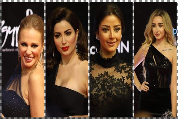 صور  «الأسود» يسيطر على إطلالات نجمات مهرجان القاهرة السينمائي