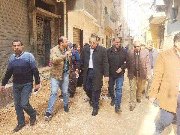 محافظ الشرقيةيتفقد أعمال تنفيذ مشروع تطوير مدينة الزقازيق بمنطقتي كفر الإشارة وعزبة الحريري