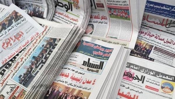 """توجيهات السيسى بمكافحة الفقر وإعادة تمركز القوات الجوية ضمن """"قادر 2020"""" فى صدارة الصحف"""